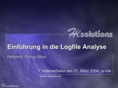 Einführung in die Logfile Analyse