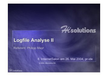 Logfile Analyse II (kurz)