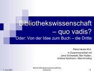 Folien - Institut für Bibliothekswissenschaft