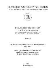 PDF-Dokument - Institut für Bibliothekswissenschaft - Humboldt ...