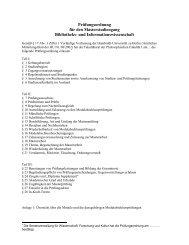 Prüfungsordnung Master - Institut für Bibliothekswissenschaft ...