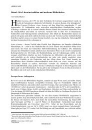 Island: Alte Literaturtradition und moderne Bibliotheken