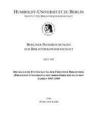 die bauliche entwicklung der firestone bibliothek (princeton ...