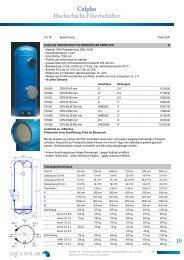 Hochschichtfilter, Ozonreaktionsbehälter und ... - Aqua Solar AG