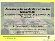 Anpassung der Landwirtschaft an den Klimawandel - IBK