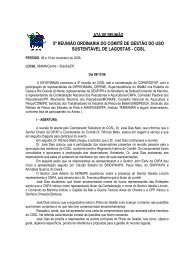 5ª Reunião Ordinária CGSL - Novembro/2006 (pdf) - Ibama