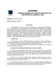7ª Reunião Ordinária CGSL - Março/2007 (pdf) - Ibama