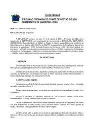 8ª Reunião Ordinária CGSL - Outubro/2007 (pdf) - Ibama