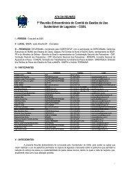1ª Reunião Extraordinária CGSL - Abril/2005 (pdf) - Ibama