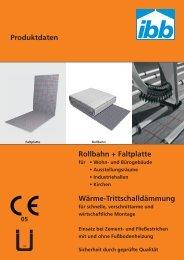 Datenblatt Rollbahn Faltplatte DES Stand 21.11 ... - ibb-modul-air KG