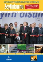 Zeytinburnu Toplam Yatırım - İstanbul Büyükşehir Belediyesi