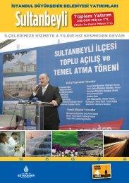 Sultanbeyli Toplam Yatırım - İstanbul Büyükşehir Belediyesi