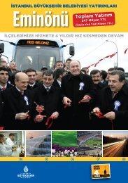 Eminönü Toplam Yatırım - İstanbul Büyükşehir Belediyesi