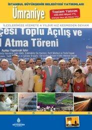 Ümraniye Toplam Yatırım - İstanbul Büyükşehir Belediyesi