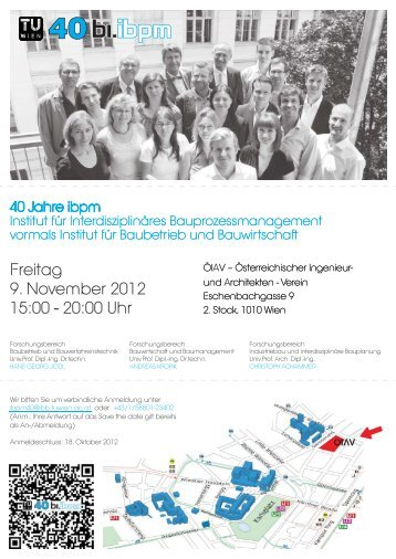Freitag 9. November 2012 15:00 - 20:00 Uhr - Baubetrieb und ...