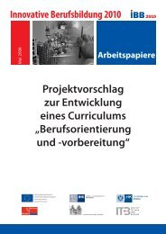 Curriculum Berufsorientierung