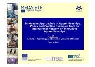 Innovative Approaches in Apprenticeships. Policy and Practice ...