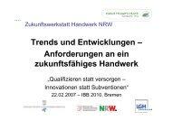 Ch. Felten (WHKT, Düsseldorf): Trends- und Entwicklungen