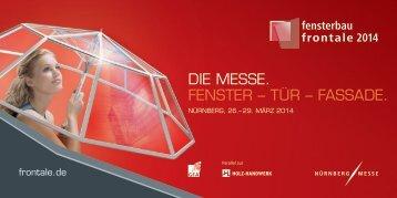 Offizielle Broschüre der fensterbau/frontale 2014 - 3ks profile gmbh