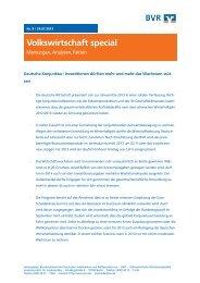 Aktuelles BVR Volkswirtschaft special - Bundesverband der ...