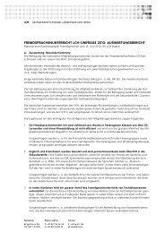 Auswertungsbericht LCH-Umfrage Fremdsprachenunterricht