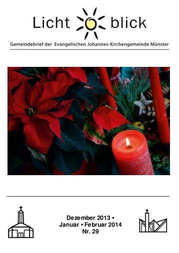 Dezember 2013 Januar Februar 2014 Nr. 29