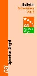 Spenden-Siegel-Bulletin - Deutsches Zentralinstitut für soziale Fragen