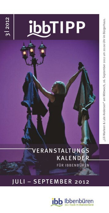 veranstaltungs kalender juli – september 2012 3 ... - Stadt Ibbenbüren