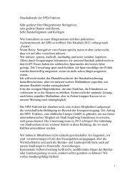 Haushaltsrede der SPD-Fraktion - Stadt Ibbenbüren