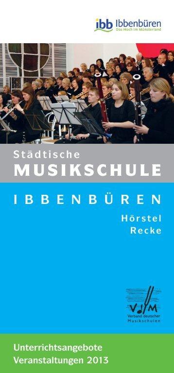 Unterrichtsangebote und Veranstaltungen 2013 - Stadt Ibbenbüren