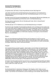 Haushalt 2013 Stadt Ibbenbüren Haushaltsrede der FDP-Fraktion ...
