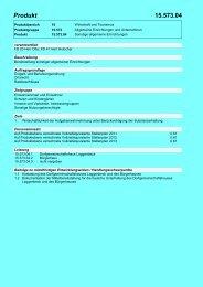 Produkt 04 Sonstige Allgemeine Einrichtungen
