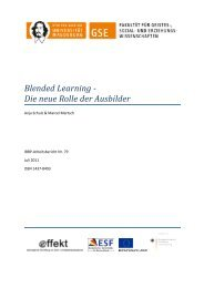 Blended Learning - Die neue Rolle der Ausbilder - Institut für Berufs ...