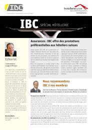 Assurances : IBC offre des prestations