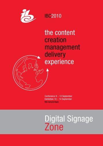 Digital Signage - IBC