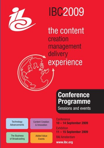 Conference Programme - IBC