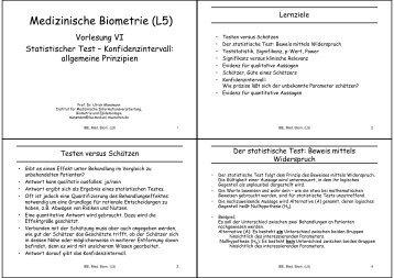 Statistischer Test - Konfidenzintervall - IBE