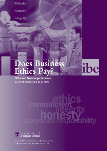 report on business ethics