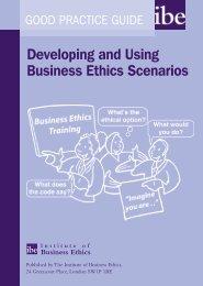 Developing and Using Business Ethics Scenarios - Institute of ...