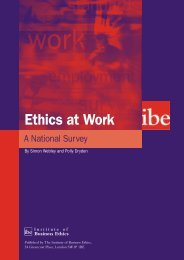 2633 IBE CorporateValues Report - Institute of Business Ethics