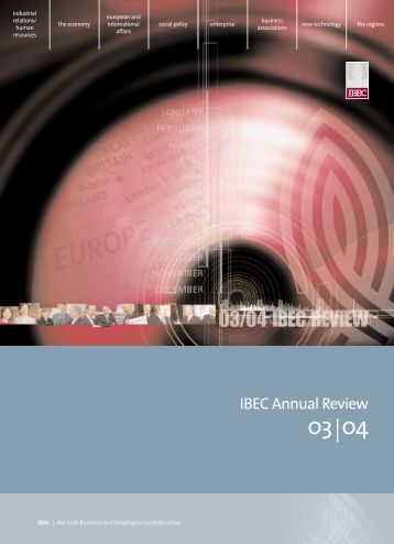 IBEC Annual Review - Irish Business and employers confederation