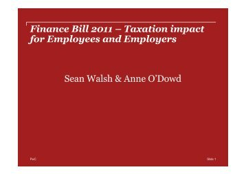 Finance Bill 2011 – Taxation impact for Employees and Employers ...