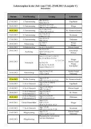 Lektorenplan in der Zeit vom 17.02.-25.08.2013 - Bistum Hildesheim