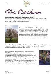 Das Schmücken eines Osterbaums ist ein schöner, alter Brauch ...