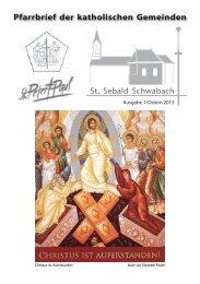 Pfarrbrief der katholischen Gemeinden - Bistum
