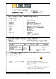 SICHERHEITSDATENBLATT nach Eg-Richtlinien TRENNMITTEL C 5