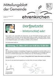 Dorfputzete - Gemeinde Ehrenkirchen