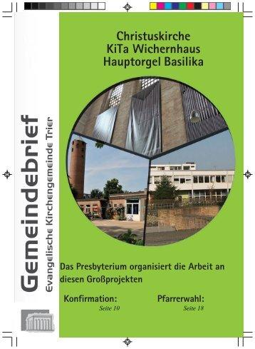 Die neue Hauptorgel - Evangelischer Kirchenkreis Trier