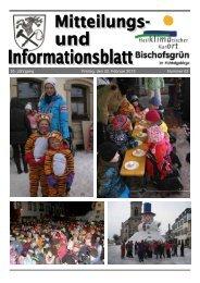 35. Jahrgang Freitag, den 22. Februar 2013 Nummer ... - Bischofsgrün