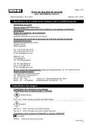 Fiche de données de sécurité - Brunox